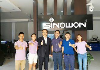 Korean JIST Professor Ji had visited Sinowon headquater in August 2017